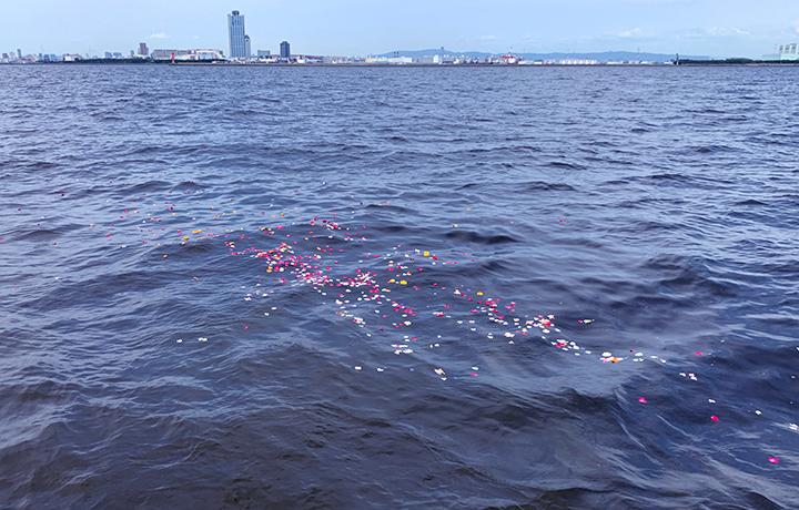 大阪湾での散骨