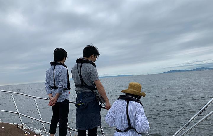 大阪湾での海洋散骨
